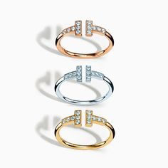 """@tiffanyandco's photo: """"The letter T, simplified, deconstructed and bent into rings with beautiful clarity. #TiffanyT #TiffanyAndCo #Tiffany"""""""