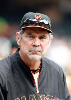 San Francisco Giants manager Bruce Bochy ( 15) in the dugout before the game against the Cleveland Indians in the first inning at AT&T Park in San Francisco, Calif., on Sunday, April 27, 2014. (Josie Lepe/Bay Area News Group)