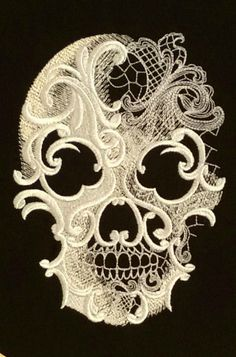 Lacy Skull Wall Hanging :: Mandy's Joys Online Shop