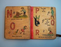 Beautiful old french book with interesting illustrations & type