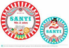 Kit Imprimible Editable Circo Vintage Decoración Y Candybar - $ 190,00 en MercadoLibre
