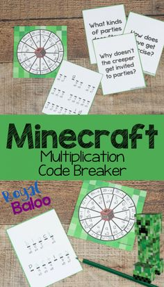 It's time for more Minecraft multiplication printables! We all want our kids to enjoy schoolwork, … Minecraft Multiplication Code Breaker with Minecraft Puns Read Minecraft Classroom, Minecraft Activities, Minecraft School, Math Classroom, Multiplication Activities, Math Activities, Math Fractions, Numeracy, Friendship Activities