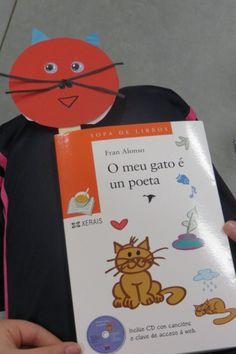 «O meu gato é un poeta» no CEIP Xesús Goldar de Lalín. http://bibliotecaieslaxeiro.blogspot.com.es/2015/05/o-meu-gato-e-un-poeta.html