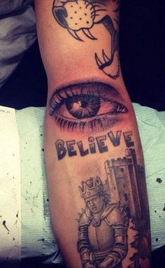 New Justin Bieber Tattoo: The Eye Has It Celebrities | tattoos picture justin biebers tattoo