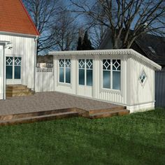 Norwegian House, Sims House, Garden Planning, House Plans, Pergola, Shed, Home And Garden, Exterior, Outdoor Structures