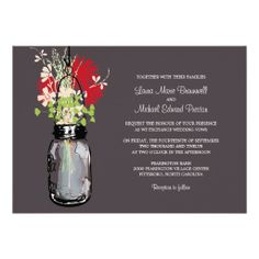 ==> consumer reviews          	Mason Jar and Wildflowers Wedding Invitations           	Mason Jar and Wildflowers Wedding Invitations online after you search a lot for where to buyDeals          	Mason Jar and Wildflowers Wedding Invitations Review on the This website by click the button below...Cleck Hot Deals >>> http://www.zazzle.com/mason_jar_and_wildflowers_wedding_invitations-161764812267538300?rf=238627982471231924&zbar=1&tc=terrest