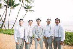 Modern Maui Wedding in Pretty Pastel Hues Maui Weddings, Destination Weddings, Anna Kim, Wedding 2015, Groom And Groomsmen, Pretty Pastel, Wedding Styles, Bride, Couples