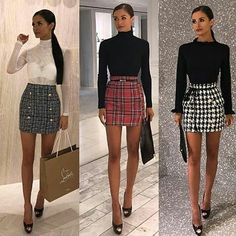 Outfits Fashion outfits Trending fashion outfits Fashion Miniskirt outfits Trendy outfits - Always on point Jessica Curran ❤ via V ~ london ❤ - Paris Outfits, Girly Outfits, Mode Outfits, Classy Outfits, Skirt Outfits, Trendy Outfits, Fall Outfits, Fashion Outfits, Fashion Fashion