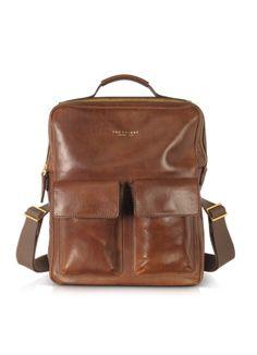 dbef16ced9 The Bridge Sfoderata Marrone Leather Backpack