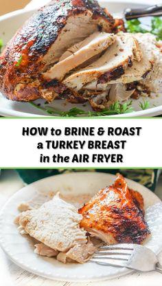 Air Fryer Turkey Breast Recipe, Roast Turkey Breast, Smoked Turkey, Roasted Turkey, Easy Brine Recipe, Turkey Club Sandwich, Sandwiches For Lunch, Cooking Turkey, Thanksgiving Recipes