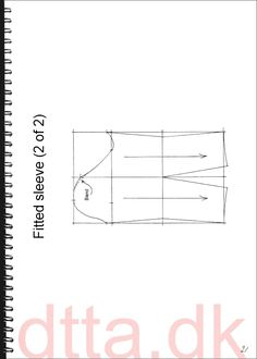 Fitted sleeve (b). SYSTEM DTTA: PAGE 21 | Tailoring - patternmaking, cutting and sewing | THE DESIGN AND TECHNICAL TAILORING ACADEMY | TILSKÆRERAKADEMIET I KØBENHAVN (KBH)
