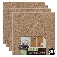 "Cork Wall with quote ""Collect memories,not things"" in our dream house. Quartet 12 x 12-Inch Cork Wall Tiles, Pack of 40 Tiles - QRT102"