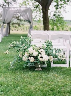 Is Wedding Aisle Decor Worth It? - Roots Floral Design - - Flowers for your wedding aisle decor can amp your ceremony, but they're the last item on the wish list. Except, you can reuse your decor for the receptions! Wedding Ceremony Ideas, Wedding Church Aisle, Wedding Aisle Decorations, Wedding Flower Arrangements, Wedding Bouquets, Floral Arrangements, Church Decorations, Wedding Backdrops, Wedding Dress