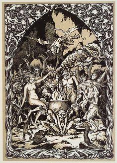 Bernard Zuber for Maurice Garçon's La Vie Execrable de Guillemette Babin, Sorciere, 1926