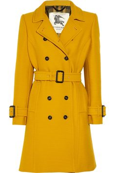"Burberry London Ribbed cotton and wool-blend trench coat (need to be able to put this in my ""WANT!"" file as well)"