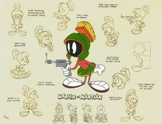 Looney Tunes - Marvin The Martian - Model Sheet & Color Reference Looney Tunes Characters, Looney Tunes Cartoons, Famous Cartoons, Classic Cartoons, Cartoon Drawings, Cartoon Art, Dibujos Pin Up, Character Model Sheet, Marvin The Martian