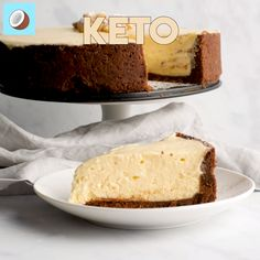This keto salted caramel cheesecake is voted recipe of the week, and I can't stop eating it… can someone please come rescue me? I'm in a keto cheesecake coma… Salted Caramel Cheesecake, Keto Cheesecake, Keto Cake, Sugar Free Recipes, Low Carb Recipes, Coconut Flour, Almond Flour, Brownie Recipes, Dessert Recipes
