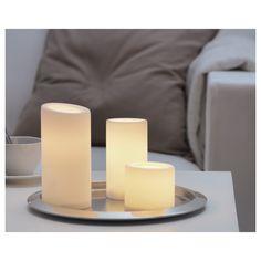 STOPEN Κερί LED, σετ 3 τεμ. - IKEA