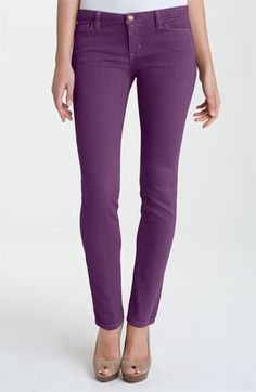 MICHAEL Michael Kors Color Skinny Jeans (Petite) in Iris. Purple pants! Love 'em.