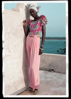 Pink wide leg trousers in a soft fabric