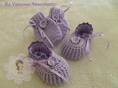 Conjunto de crochê | A Pequena Centopéia Sapatinhos | Elo7