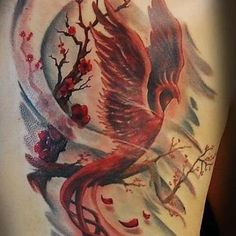 Home - tattoo spirit - The phoenix, also called the firebird, is a mythological mythical creature, a bird that burns and i - Phoenix Tattoo Feminine, Phoenix Bird Tattoos, Phoenix Tattoo Design, Cover Up Tattoos, Body Art Tattoos, Girl Tattoos, Sleeve Tattoos, Tatoos, Cute Small Tattoos