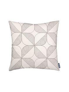 Rosette Cushion – Cream - Cream / 45CM X 45CM