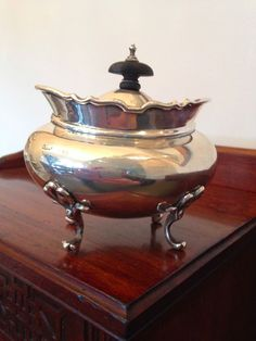 George V, Sterling Silver Tea caddy by James Wood & Sons #JamesWoodSons