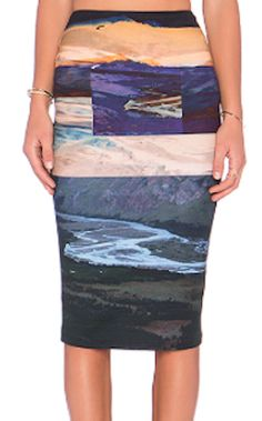 pretty colorful midi skirt