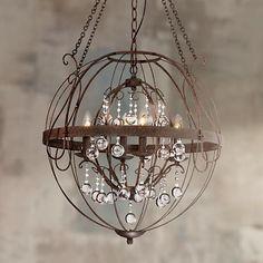 """Fun industrial chandelier with a chandelier  Alexandria 26"""" Wide Bronze Pendant"""
