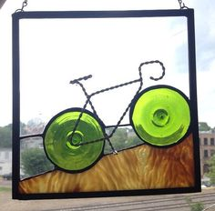 Afbeeldingsresultaat voor glass fusing patterns bicycles #StainedGlassJewelry