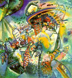Moscou I (1916) de Kandinsky