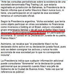 COMUNICADO DE PRESIDENCIA