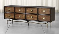 "The Zander Dresser from @crateandbarrel inspired Week 13- ""Modern Mad Men"""
