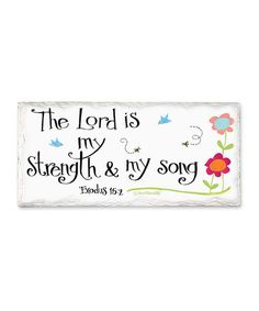 Look what I found on #zulily! 'Lord is My Strength' Tumbled Tile Sign #zulilyfinds
