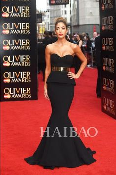 a2969e03d7e 2015 Best Selling Back Mermaid Long Red Carpet Celebrity Dresses With Gold  Sash Sexy Evening Prom Dress Gowns Pageant Dress Exquisite Cheap