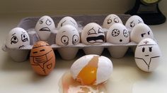 Funny Egg Faces