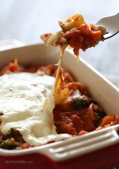 Spaghetti squash and fresh vegetables simmered with a quick marinara sauce and topped with fresh mozzarella - easy, cheap, gluten-free and perfect for Meatless Mondays!