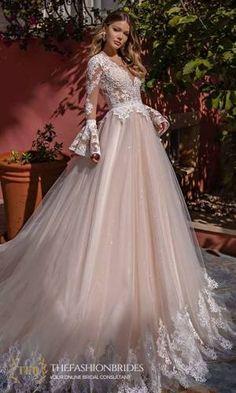 Supernova Luxury 2021 Spring Bridal Collection – The FashionBrides Fairy Wedding Dress, Buy Wedding Dress, Wedding Dress Sleeves, Long Sleeve Wedding, Lace Sleeve Dresses, Fluffy Wedding Dress, Queen Wedding Dress, Gorgeous Wedding Dress, Princess Wedding