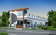 more House plans… Front Gate Design, House Front Design, Modern House Design, 2bhk House Plan, Duplex House Plans, Village House Design, Bungalow House Design, Front Elevation Designs, House Elevation