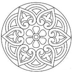 Dibujos y Plantillas para imprimir: Dibujos Mandalas