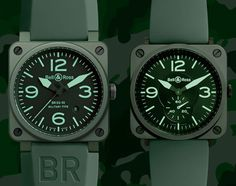 BELL & ROSS BR03-92 CERAMIC MILITARY WATCH