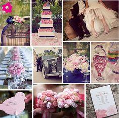 Paisley pink wedding decor