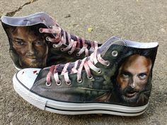 Walking Dead Fan Converse All Star Shoes by workofdaniel on Etsy, $175.00
