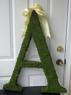 Moss Covered Monogram Letter  Moss Wedding by lifeissobeautiful, $80.00