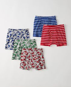 Boxer Briefs 5 Pack In Organic Cotton in Boy's Multi Pack - main