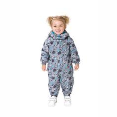 картинка Весенний комбинезон для малышей Premont «Малыш Барибал» S18301 GREY (unisex) магазин Одежда+ являющийся официальным дистрибьютором в России