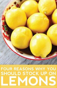 4 Reasons Why You Should Stock Up on Lemons-love these easy lemon tips!