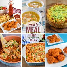 Slimming Eats Weekly Meal Plan - Week 2 - Slimming World Recipes I had a great response to last week's meal plan. I hope you found it useful and it helped you stick to plan, Extra Easy Slimming World, Easy Slimming World Recipes, Slimming Eats, Slimming World Meal Planner, Pastas Recipes, Diet Recipes, Cooking Recipes, Healthy Recipes, Recipies