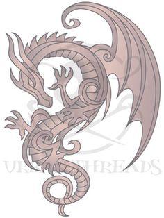 Embroidery Designs at Urban Threads - Baroque Punk Dragon